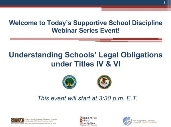School Discipline Guidance Package: Title IV and Title VI Civil Rights Guidance
