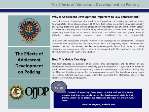 The Effects of Adolescent Development on Policing