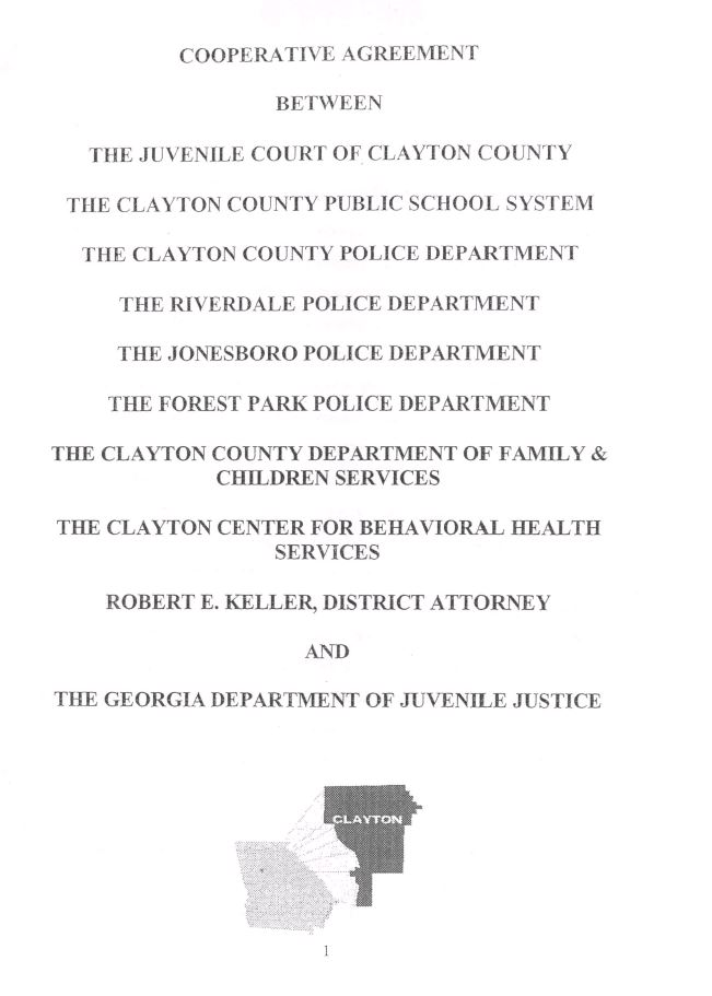 Clayton County School Protocol Agreement School Justice